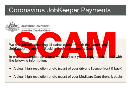 ATO Warns Business Owners About New JobKeeper Scam
